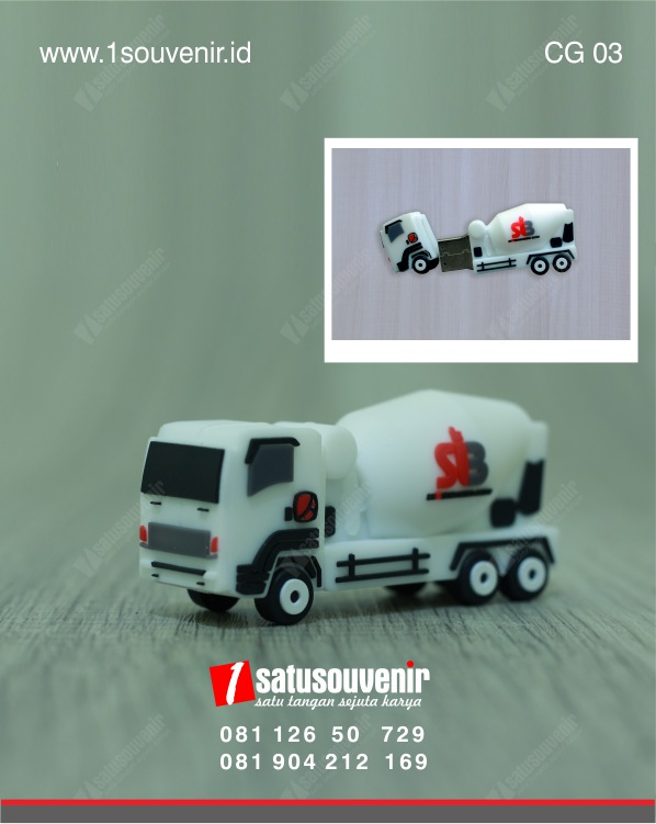corporate gift truk flashdisk custom