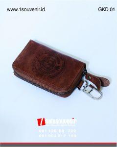 gantungan kunci dompet kulit