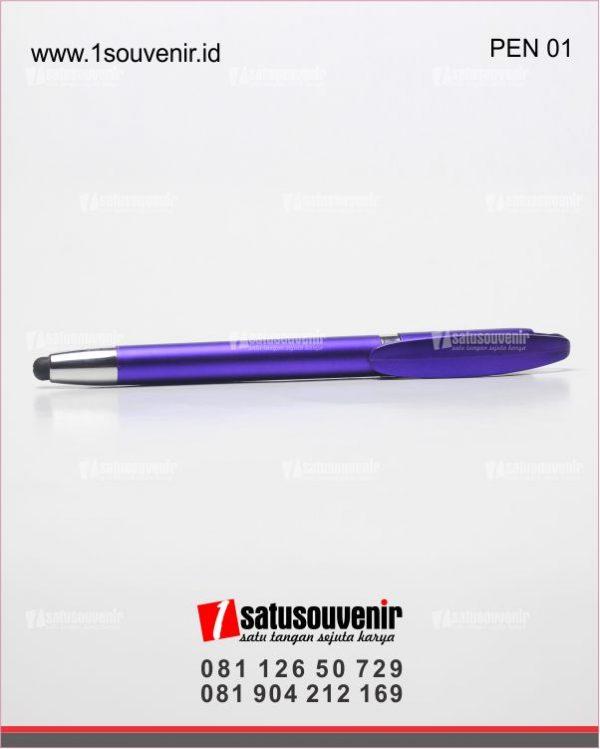 souvenir perusahaan pentouch screen ungu