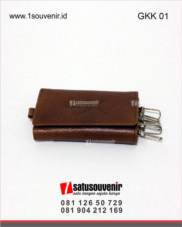 souvenir perusahaan gantungan kunci kulit gledex