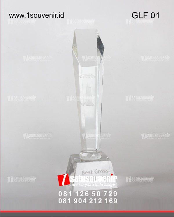 trophy golf kristal golf tugu