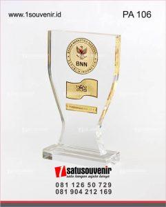 souvenir plakat akrilik bnn penghargaan hani 2019
