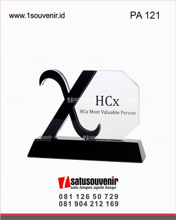 desain plakat akrilik hcx most valuable person