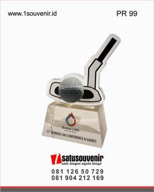 plakat resin golf badak LNG borneo