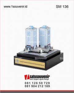 souvenir miniatur gedung kementrian keuangan republik indonesia