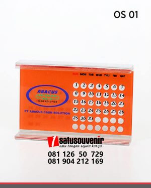 OS01 Office Suplies Kalender Meja Akrilik